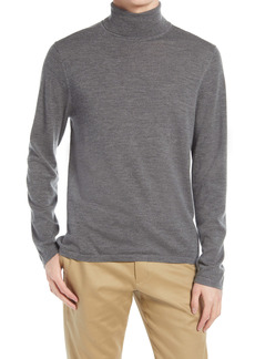 Vince Long Sleeve Wool & Cashmere Turtleneck Sweater