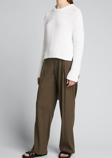 Vince Mirrored Rib-Knit Pullover Sweater