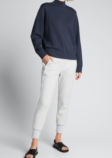 Vince Mock-Neck Long-Sleeve Sweatshirt