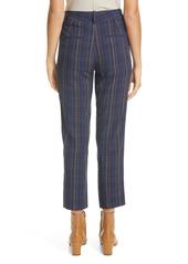 Vince Modern Plaid Crop Pants