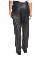 Vince Pleat Front Tapered Leather Trousers