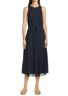 Vince Pleated Sleeveless Dress