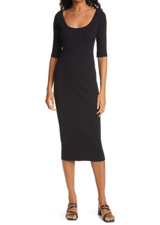 Vince Ribbed Body-Con Dress