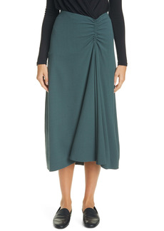 Vince Ruched Asymmetrical Skirt