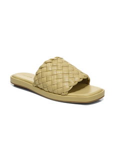 Vince Rumi Woven Leather Slide Sandal (Women)