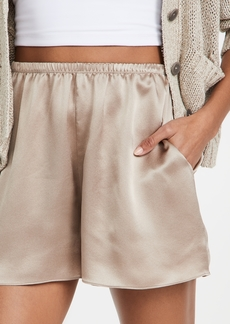 Vince Satin Pull On Shorts