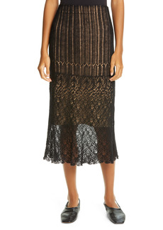 Vince Scalloped Lace Skirt
