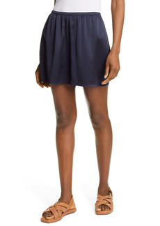 Vince Silk Satin Pull-On Shorts