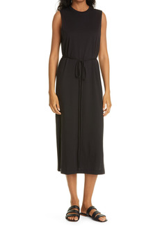 VINCE Sleeveless Pima Cotton Maxi Dress
