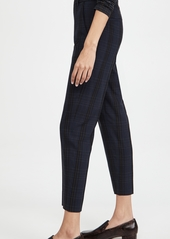Vince Plaid Tapered Trousers