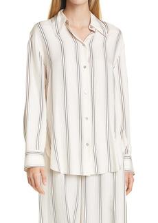 Vince Stripe Button Up Blouse