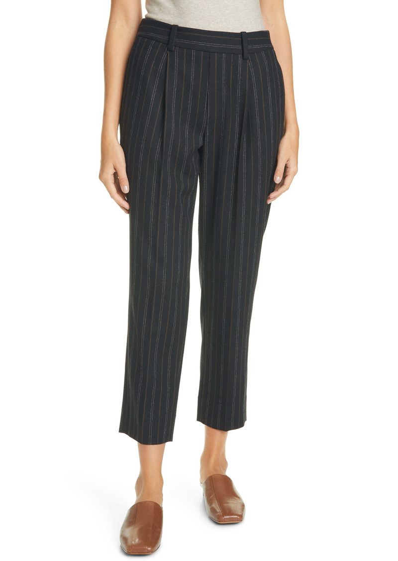 Vince Stripe Flannel Ankle Pants