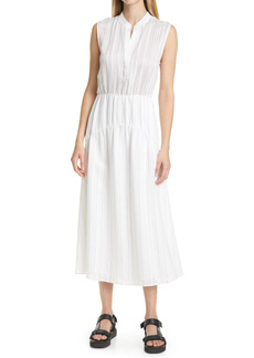 Vince Stripe Tiered Sleeveless Dress