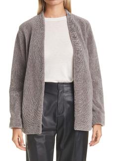 Vince Textured Genuine Shearling Jacket