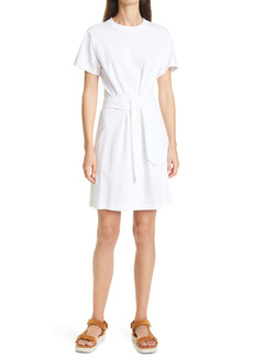 Vince Tie Waist Short Sleeve Cotton Dress