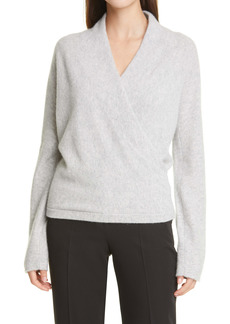 Vince Wrap Front Cashmere Sweater