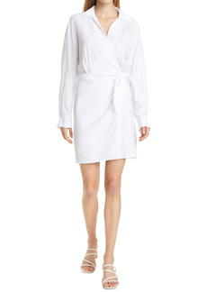Vince Wrap Front Long Sleeve Shirtdress