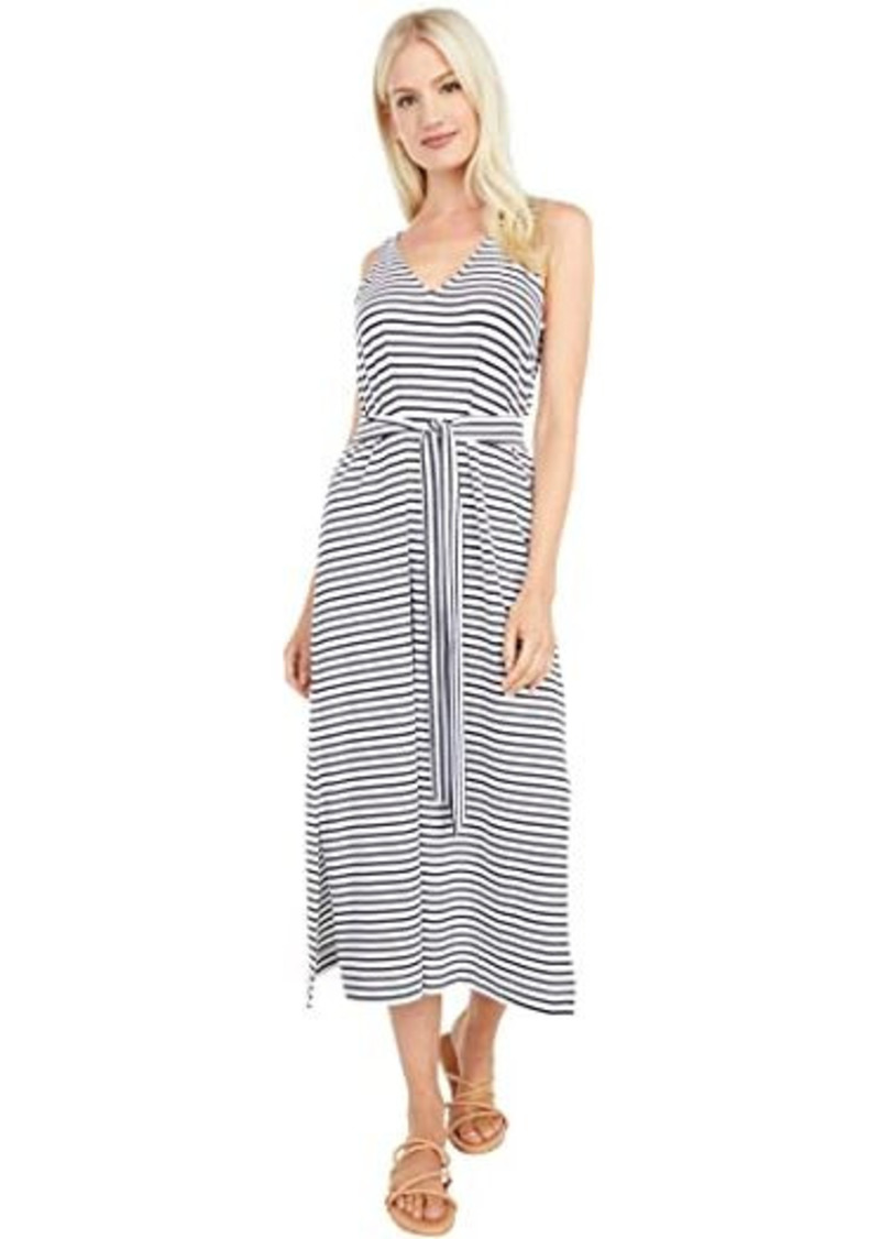 Vineyard Vines Striped V-Neck Maxi Dress