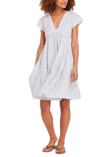 vineyard vines Jet Stripe Tiered Linen Dress