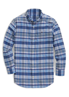 vineyard vines Kids' Plaid Button-Down Shirt (Big Boy)