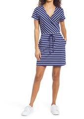 vineyard vines Sankaty Stripe Faux Wrap Dress