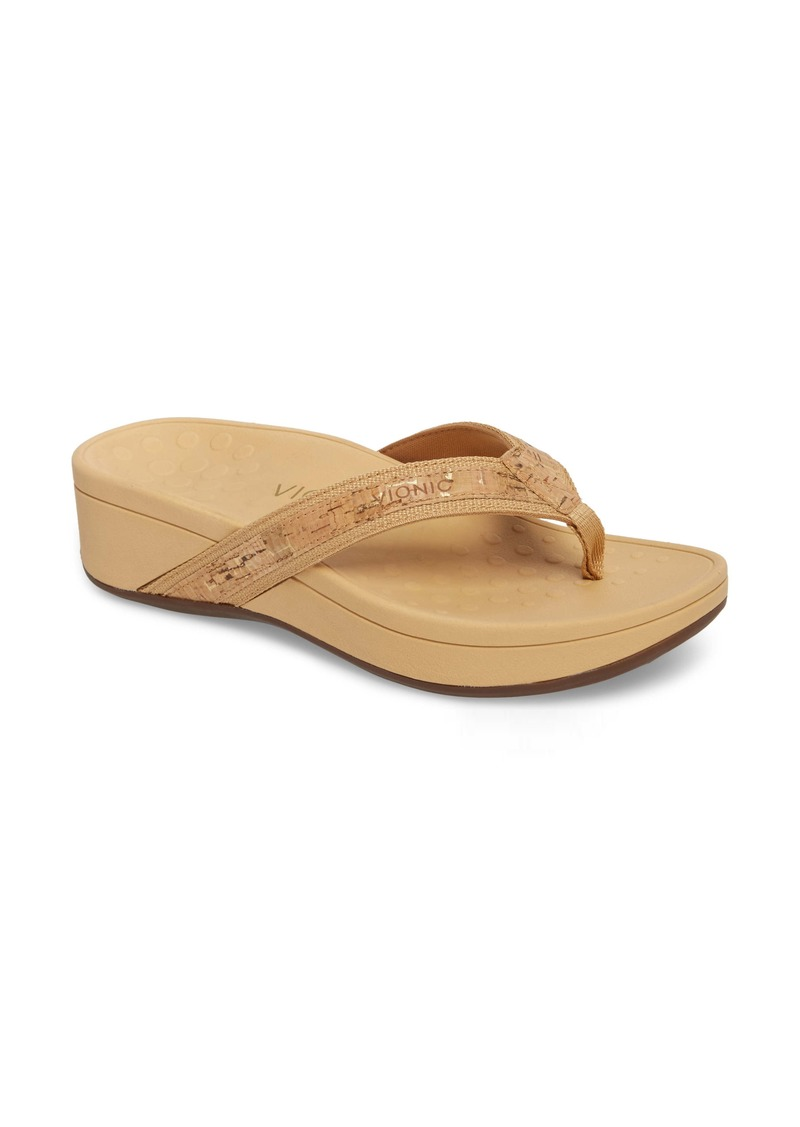 Vionic High Tide Wedge Flip Flop (Women)