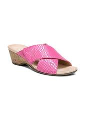 Vionic Leticia Snake Embossed Wedge Slide Sandal (Women)