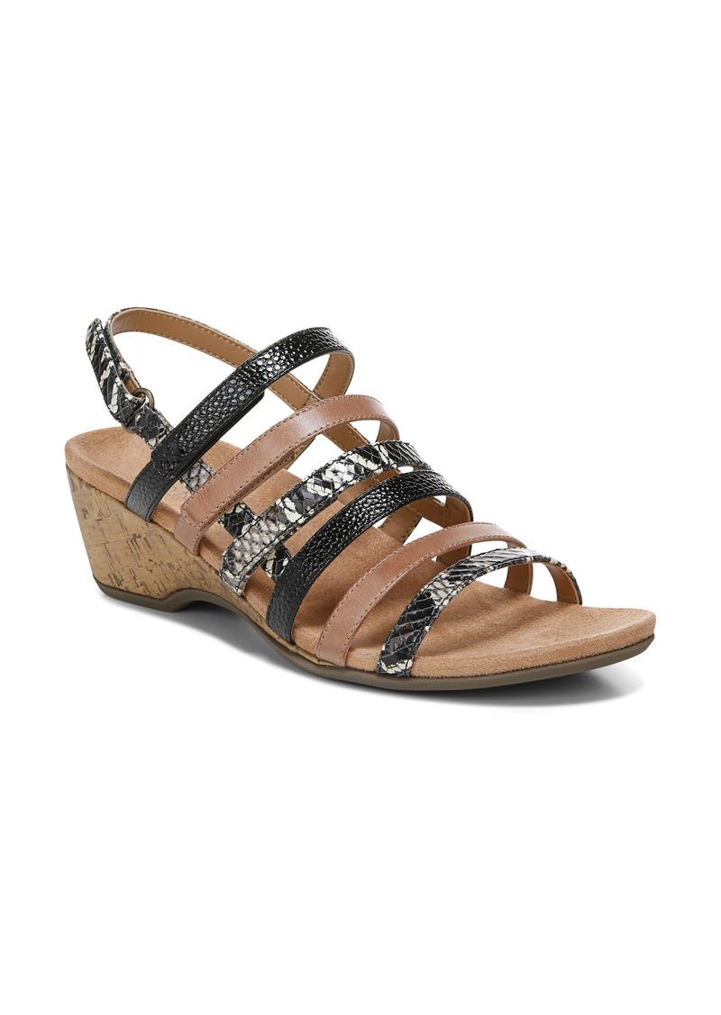 Women's Vionic Tess Snake Embossed Wedge Sandal