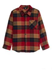 Volcom Caden Plaid Flannel Button-Up Shirt (Toddler & Little Boy)