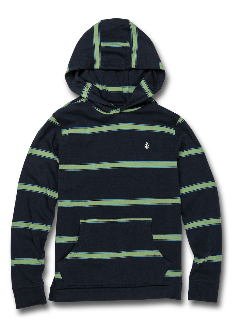 Volcom Da Fino Stripe Cotton Hooded T-Shirt (Big Boy)