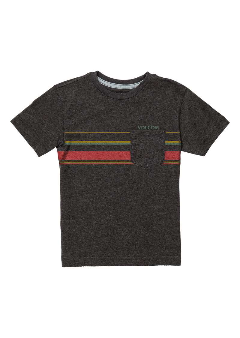 Volcom Kids' Horizontal Liner Stripe Pocket T-Shirt (Toddler & Little Boy)