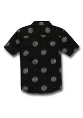 Volcom Kids' Inner Valley Medallion Short Sleeve Button-Up Shirt