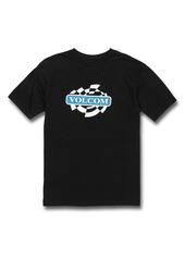 Volcom Kids' Oval Track Logo Graphic Tee (Big Boy)
