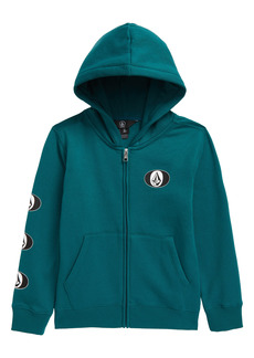 Volcom Kids' Stone Stack Front Zip Hoodie (Toddler & Little Boy)
