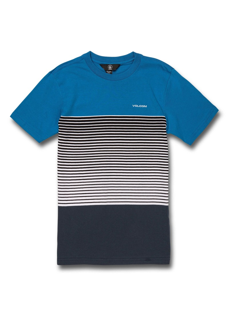 Volcom Lido Liney Stripe Colorblock T-Shirt (Big Boy)