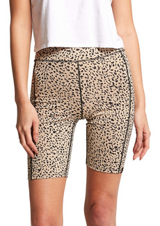 Volcom Lil High Waist Animal Print Bike Shorts