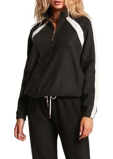 Volcom Lil Mock Neck Half Zip Sweatshirt