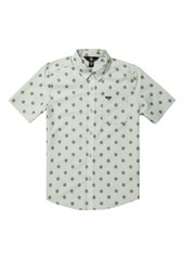Volcom Macro Dot Short Sleeve Button-Up Shirt (Big Boy)