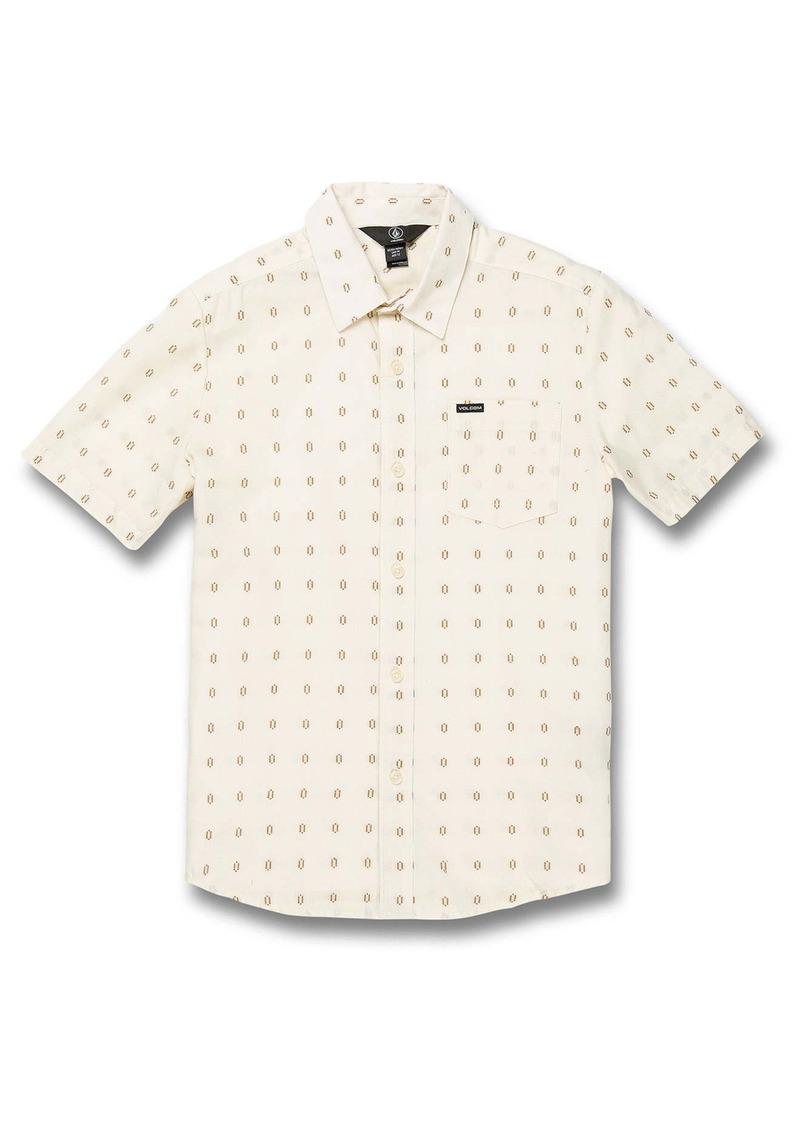Volcom Milton Dobby Short Sleeve Button-Up Shirt (Big Boy)