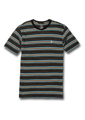 Volcom Moorley Stripe Cotton T-Shirt (Big Boy)