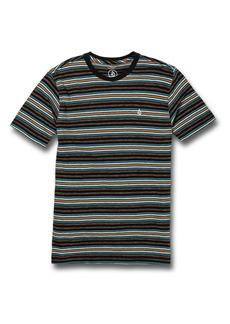 Volcom Moorley Stripe Cotton T-Shirt (Big Boy)