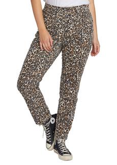 Volcom Super Stoned Animal Print Ankle Skinny Jeans (Plus Size)
