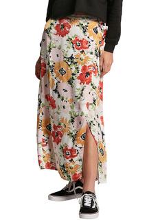 Volcom Surfbird Floral Print Maxi Wrap Skirt