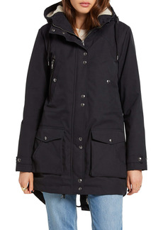 Volcom Walk On By 5K Hooded Parka with Faux Shearling Lining