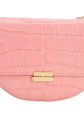 Wandler Anna Croc Embossed Leather Bag