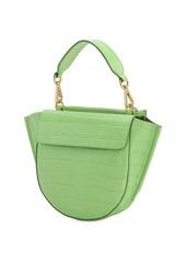 Wandler Hortensia Mini Croc Embossed Leather Bag