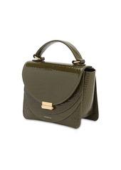 Wandler Luna Mini Croc Embossed Leather  Bag