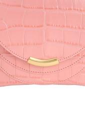 Wandler Mini Luna Croc Embossed Leather Bag