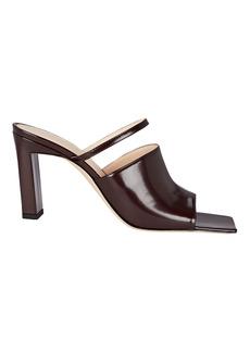 Wandler Nana Patent Leather Mule Sandals