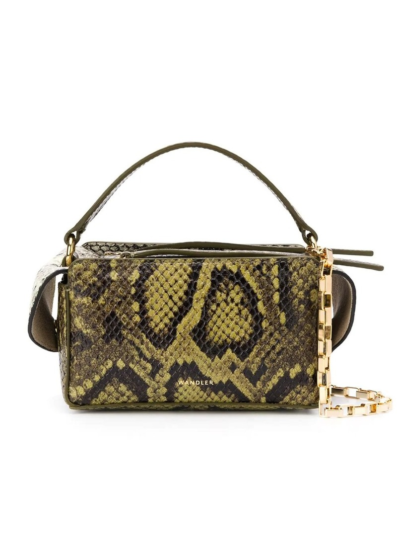 Wandler Yara Box snakeskin-effect tote bag